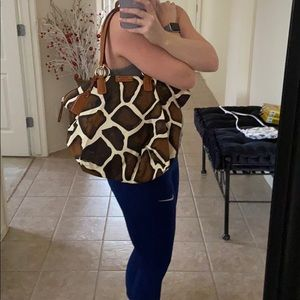 Dooney and Burke giraffe print purse
